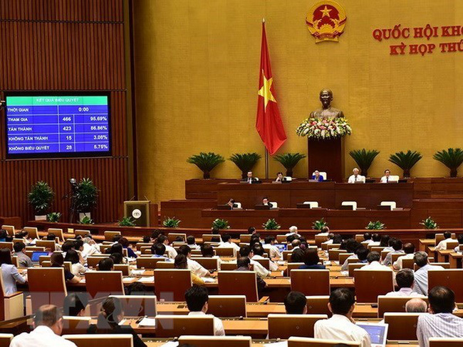 NA deputies vote to approve the Law on Cyber Security (Source:VNA)