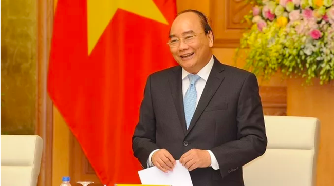 PM Nguyen Xuan Phuc speaks at the meeting. (Photo: NDO/Tran Hai)