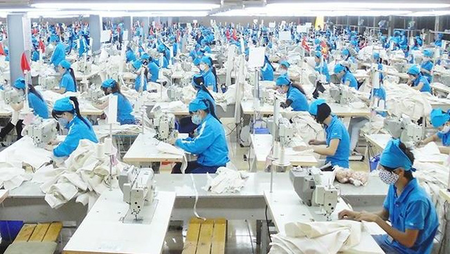 A garment line at TNG Investment and Trading Joint Stock Company in Thai Nguyen (Photo: Xuan Hoa)