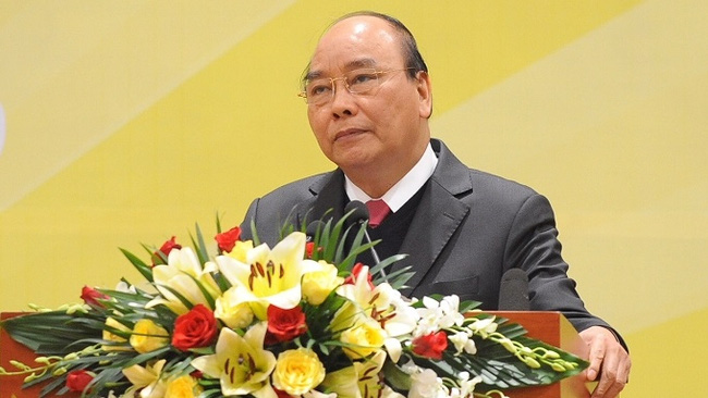 PM Nguyen Xuan Phuc speaks at the conference. (Photo: NDO/Tran Hai)