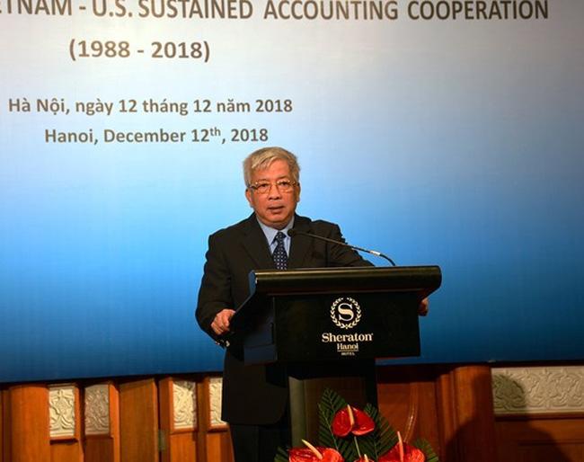 Deputy Minister of Defence Sen. Lt. Gen. Nguyen Chi Vinh addresses the ceremony in Hanoi on December 12 (Photo: qdnd.vn)