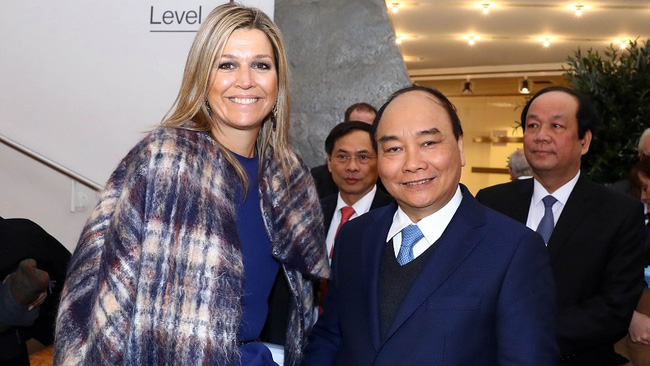 Prime Minister Nguyen Xuan Phuc and Dutch Queen Maxima (Photo: VGP)