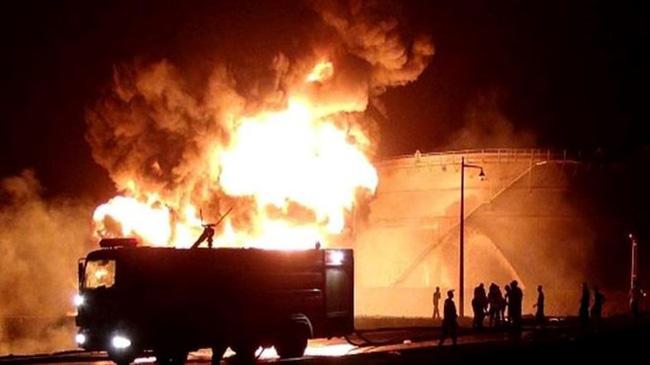 Hỏa hoạn tại nhà máy lọc dầu của Yemen - ảnh 2