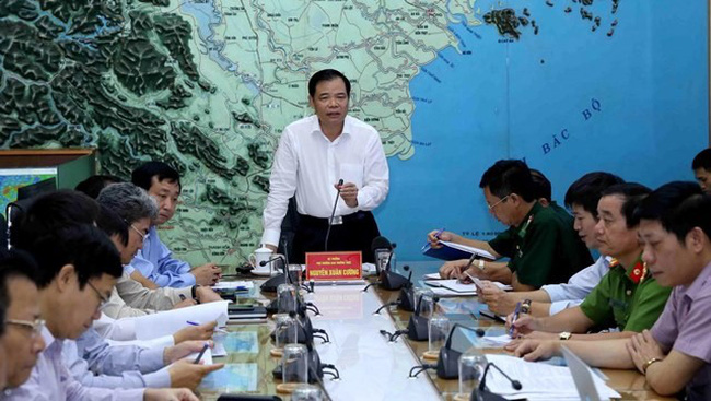 Minister of Agriculture and Rural Development, Nguyen Xuan Cuong, speaks at the meeting. (Photo: VNA)