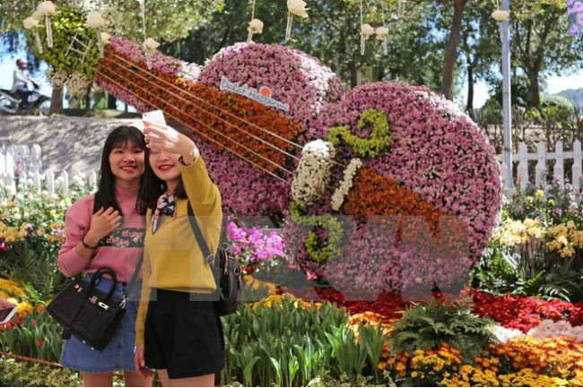 The eighth Dalat Flower Festival will be held from December 20 to 24 - PHOTO: VNA