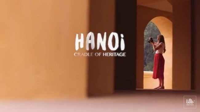 Hanoi-Cradle of Heritage is a 30-second advertising clip on Hanoi made by CNN. (Screenshot photo)