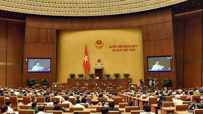 The eighth working day of the 14th NA's eight session held in Hanoi on October 30 under the chair of NA Chairwoman Nguyen Thi Kim Ngan. (Photo: NDO/Chuong Linh)