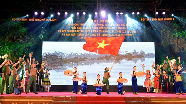An art performance at the opening ceremony (Photo: baothainguyen.vn)