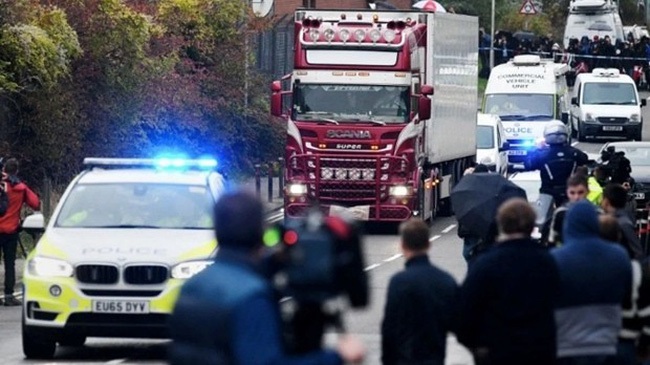 The police of Essex announced there were Vietnamese people, unidentified yet, in the incident that saw 39 people died in a lorry in a region northeast of London. (Source: Getty Image)