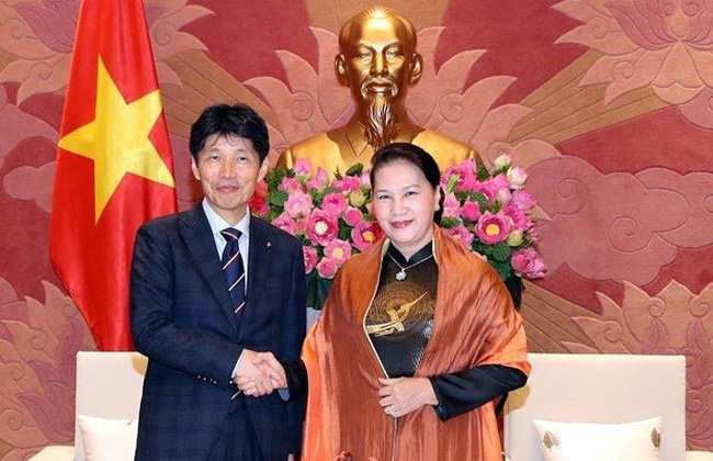 Chairwoman of the National Assembly Nguyen Thi Kim Ngan and Governor of Gunma prefecture Ichita Yamamoto (Photo: VNA)