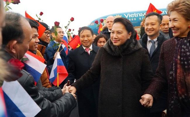 Chủ tịch Quốc hội gặp cộng đồng người Việt tại Liên bang Nga - ảnh 1
