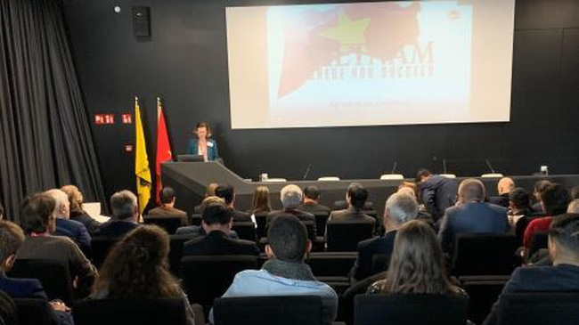 The Vietnam-Flanders Business Forum held in Belgium on November 8, 2019. (Photo: VNA)