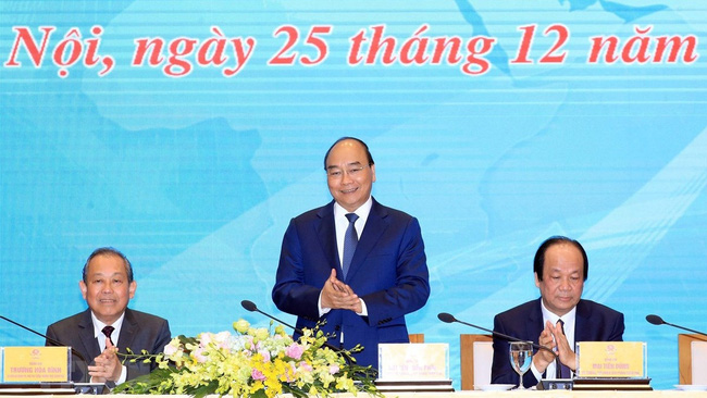 Prime Minister Nguyen Xuan Phuc attends the conference. (Photo: VNA)