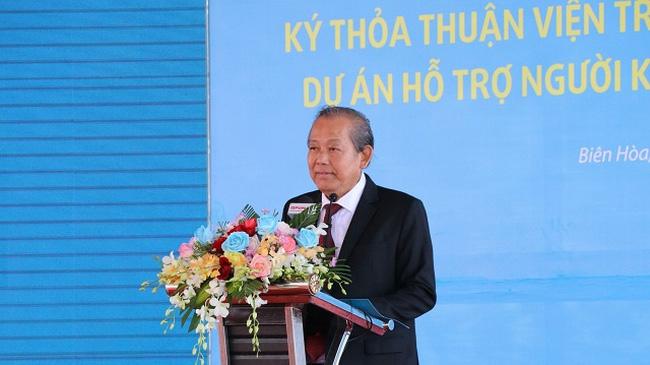 Deputy PM Truong Hoa Binh speaks at the event. (Photo: VNA)