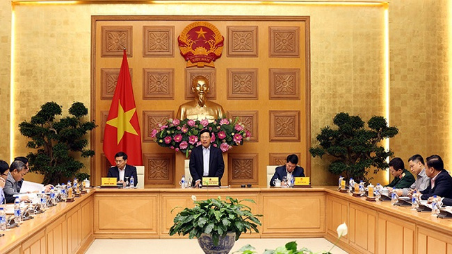 Deputy Prime Minister and Foreign Minister Pham Binh Minh speaks at the meeting. (Photo: VGP)