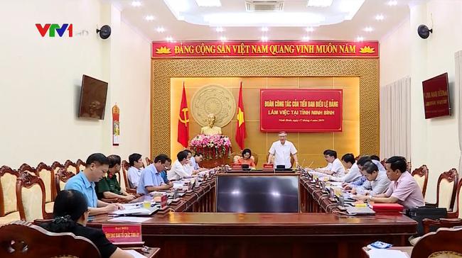 Đoàn công tác của Tiểu ban Điều lệ Đảng làm việc tại tỉnh Ninh Bình - ảnh 2