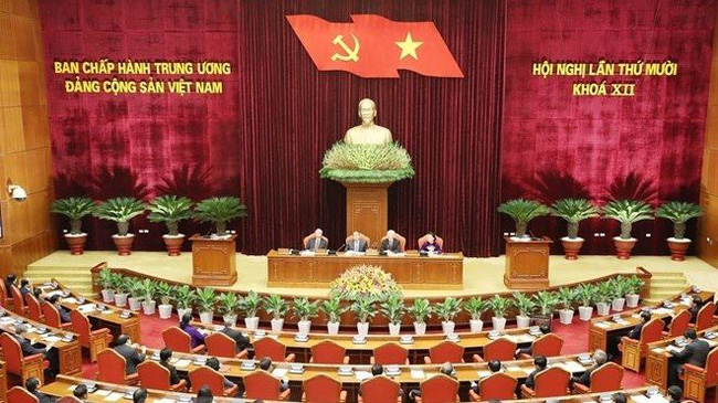 The opening of the Party Central Committee's 10th meeting (Photo: VNA)