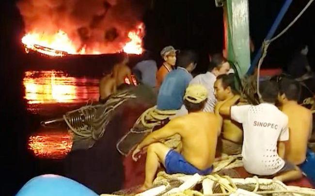 Bình Định cứu 11 ngư dân gặp nạn trên biển - ảnh 1