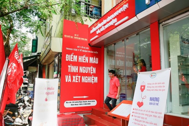 The first fixed blood donation site is located at Hoan Kiem Health Centre – No 26 Luong Ngoc Quyen street in the heart of Hanoi's Old Quarter. (Photo: nihbt.org.vn)