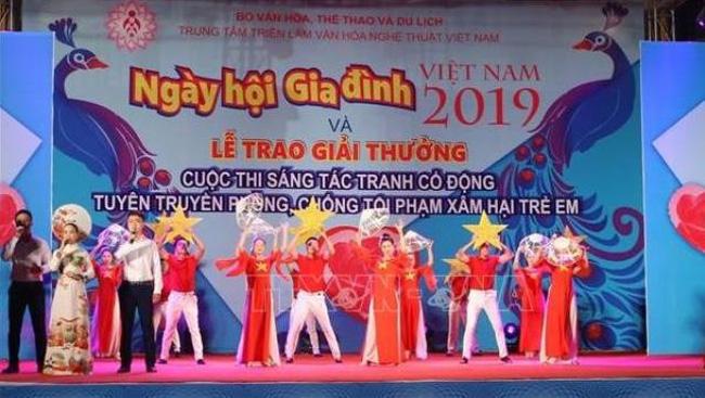 A performance at the Vietnam Family Festival 2019 in Hanoi on June 28. (Photo: VNA)