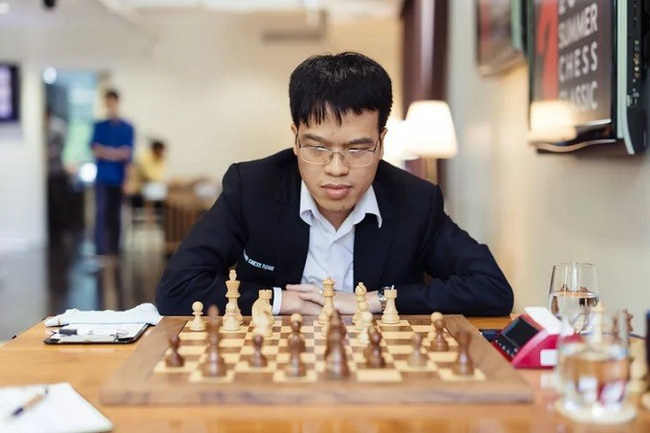 Vietnamese GM Le Quang Liem in their sixth game at the 2019 Summer Chess Classic.