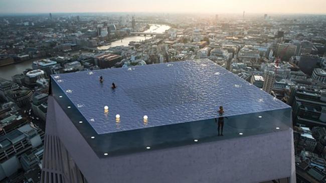 Choáng: Bể bơi vô cực 360 độ đầu tiên trên thế giới tại London - ảnh 2