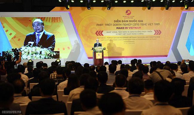 Prime Minister Nguyen Xuan Phuc speaks at the forum. (Credit: Tran Hai/NDO)