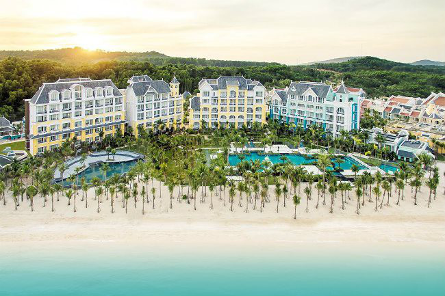 A general view of the JW Marriott Phu Quoc Emerald Bay resort