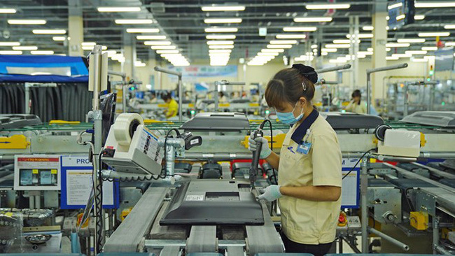 A factory of the Korean electronics firm Samsung in Ho Chi Minh City (Photo: Zing)
