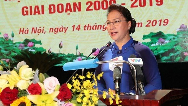 National Assembly Chairwoman Nguyen Thi Kim Ngan speaks at the event. (Photo: VNA)