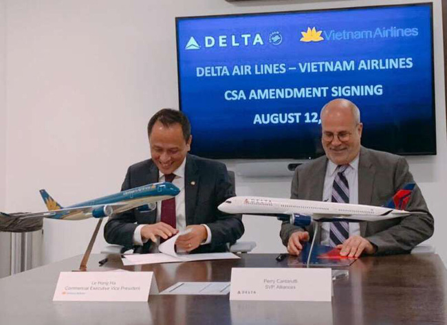 Vietnam Airlines và Delta Air Lines hợp tác kết nối Việt - Mỹ - ảnh 1