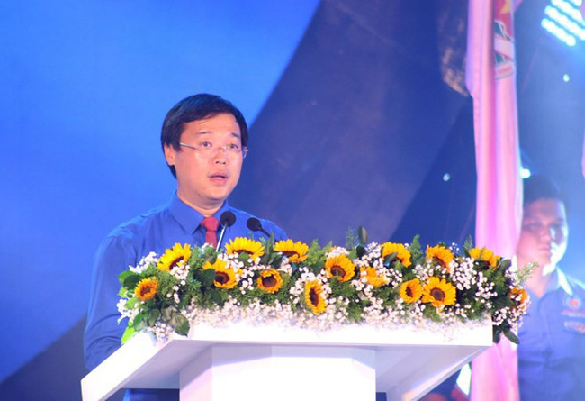 First Secretary of the Ho Chi Minh Communist Youth Union Central Committee Le Quoc Phong speaks at the ceremony in HCM City on August 17 (Photo: VNA)