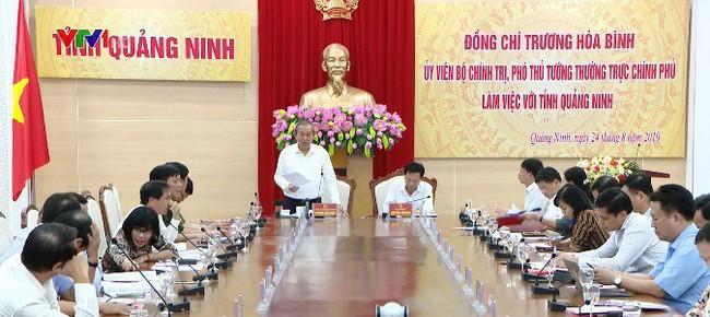 Phó Thủ tướng Trương Hòa Bình làm việc tại Quảng Ninh - ảnh 1