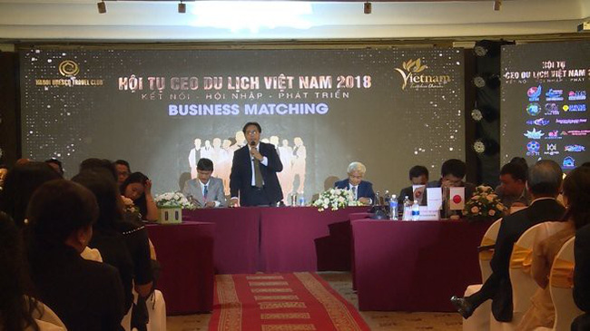 At the business matching of CEOs of travel enterprises in 2018 (Photo: plo)