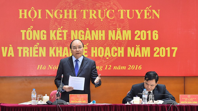 PM Nguyen Xuan Phuc speaking at the conference. (Photo: NDO/Tran Hai)