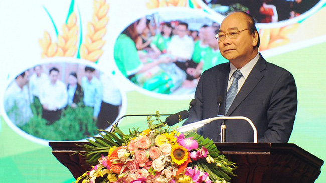 PM Nguyen Xuan Phuc speaking at the conference. (Photo: TRAN HAI/NDO)