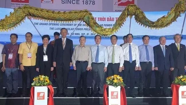 The inauguration ceremony of the Dau Tieng solar farm