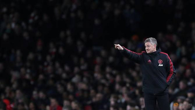 FA Cup Fourth Round - Arsenal v Manchester United - Emirates Stadium, London, Britain - January 25, 2019 Manchester United interim manager Ole Gunnar Solskjaer during the match. (Reuters)