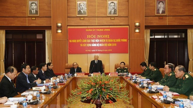 General Secretary of the Communist Party of Vietnam's Central Committee and President Nguyen Phu Trong speaks at the event. (Photo: VNA)