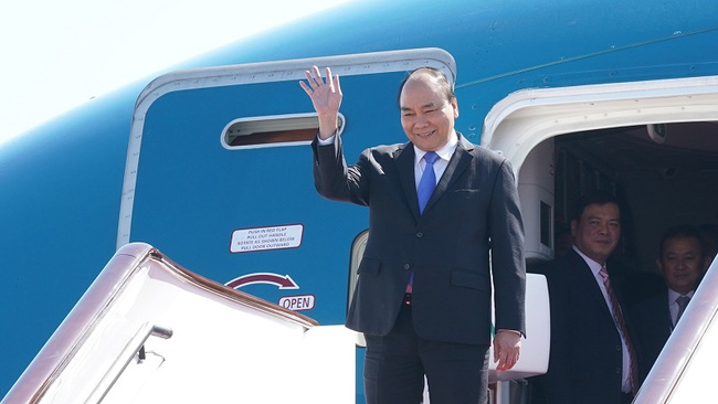 PM Nguyen Xuan Phuc has arrived in Beijing for the second Belt and Road Forum. (Photo: VGP)