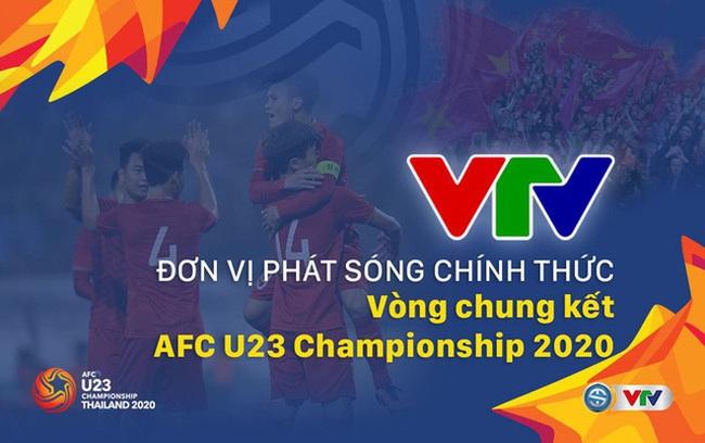 Lịch thi đấu và trực tiếp trên VTV của U23 Việt Nam, BXH bảng D VCK U23 châu Á 2020