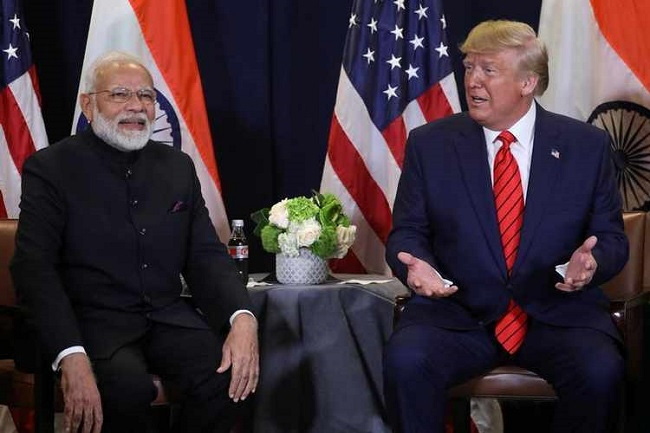 US President Donald Trump speaks during a bilateral meeting with India's Prime Minister Narendra Modi on the sidelines of the annual United Nations General Assembly in New York City, New York, US, September 24, 2019. (Photo: Reuters)