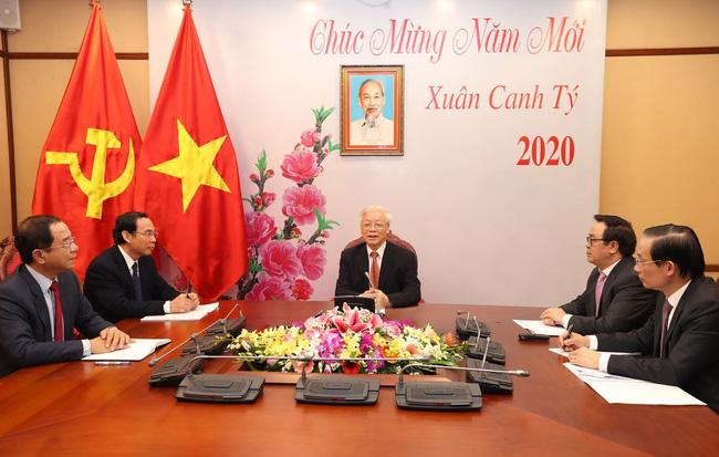 TBT, Chủ tịch nước Nguyễn Phú Trọng điện đàm với TBT, Chủ tịch nước Trung Quốc Tập Cận Bình - ảnh 1