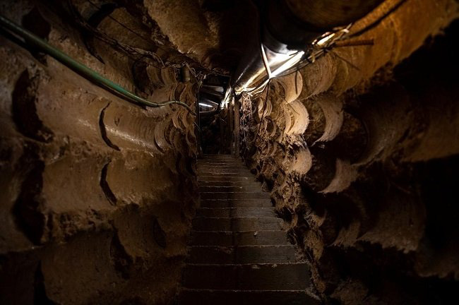 The inside of a cross-border tunnel which Israel said was dug from Lebanon into Israel, is seen during a media tour organised by the Israeli military near Zar'it in northern Israel, June 3, 2019. (Photo: Reuters)