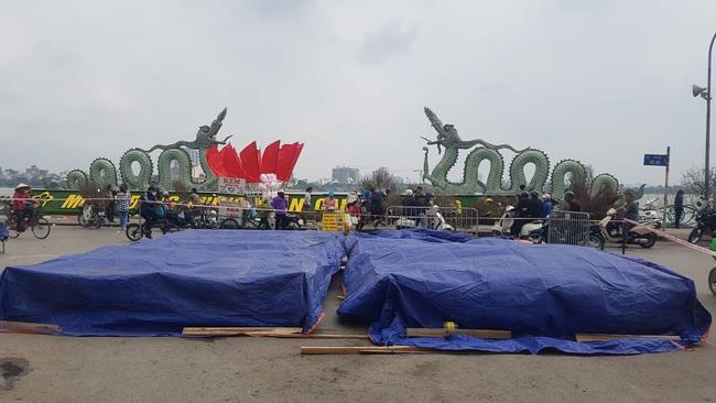 Cận cảnh trận địa pháo hoa tầm cao phục vụ đêm Giao thừa 2020 tại Hà Nội - ảnh 10