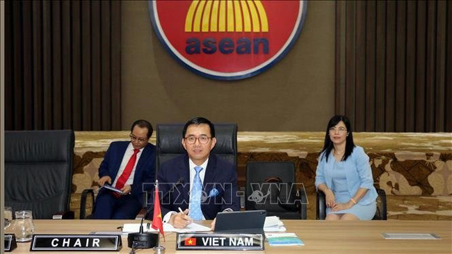 Ambassador Tran Duc Binh, Head of Vietnam's permanent delegation to ASEAN and Chairman of the ASEAN IPR's Governing Council. (Photo: VNA)