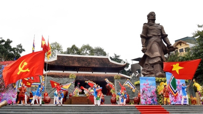 A 'tuong' (classical drama) re-enacting Ngoc Hoi–Dong Da victory was held at a celebration at Dong Da Cultural Park in Hanoi on January 29.