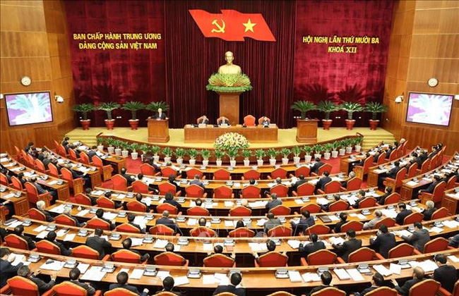 General view of the 13th session of the 12th Party Central Committee. (Photo: VNA)