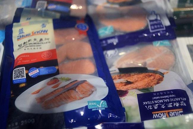 Các sản phẩm đông lạnh được bày bán tại môt siêu thị ở thủ đô Bắc Kinh ngày 17/6. Nguồn: Reuters
