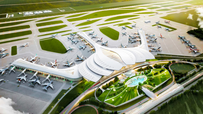 A rendering of Long Thanh Airport (Source: ACV)